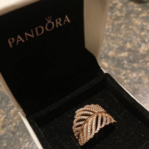 Pandora Gold Feather Ring